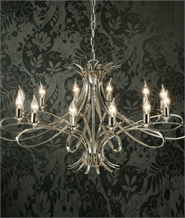 Smart Contemporary 12 Light Chandelier