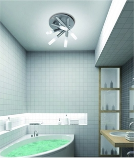 Ceiling Tubular IP44 Bathroom Light Ceiling Tubular IP44 Bathroom Light