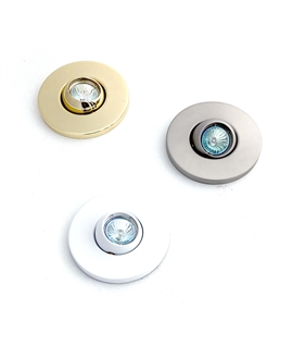 Adjustable Eyeball Downlight - White, Nickel or Brass Available