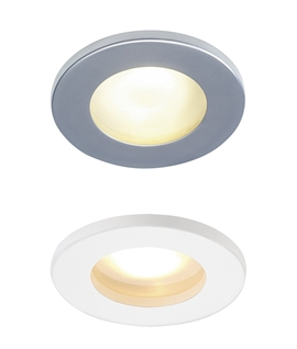12v IP65 Round Frosted Glass Downlight - White or Silver