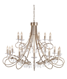 Silver & Gold 18 Light Chandelier