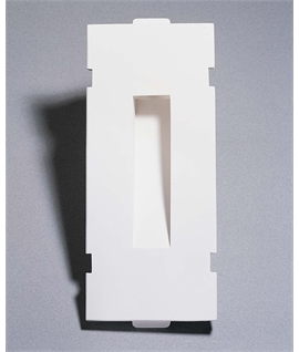 Recessed Plaster Step Light: Slot