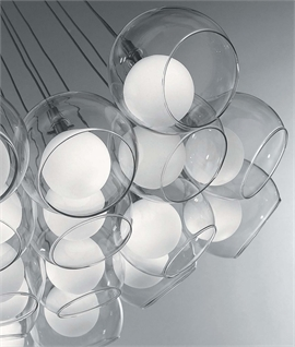 Double Ball Cluster Ceiling Pendant - 19 Lights