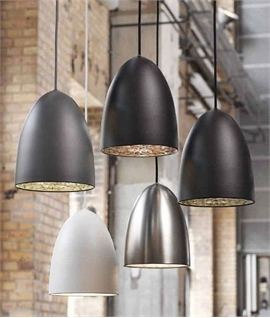 Large Classic Bullet Pendant inc Suspension