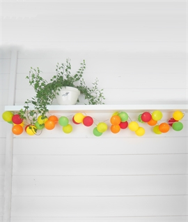 20 LED Citrus Burst String & Ball Lights