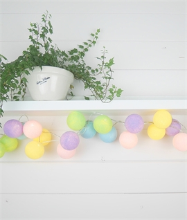 20 LED Pastel Unicorn String & Ball Lights
