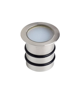 20mm Diameter Stainless Steel Marker Light - Use Inside or Out