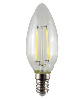 E14 2w LED Filament Candle Lamp