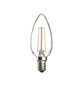 E14 LED Filament Candle Lamp - 2w or 4w