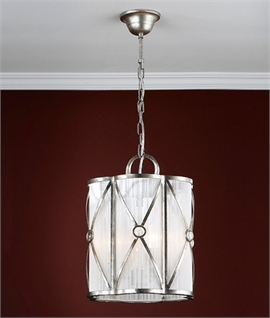 Aged Silver Hanging Lantern in Two Sizes