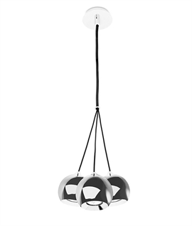 Cluster Pendant With 3 Chrome Balls - Mains GU10 Lamps
