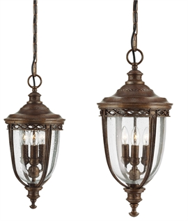 Bronze Traditional Chain Lantern - Two Sizes