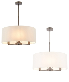 Three Light Shade Chandelier - Two Finishes