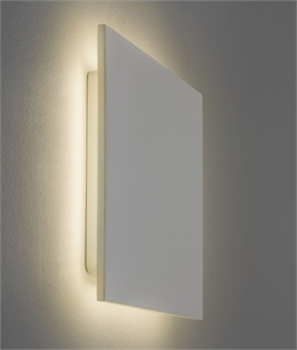 Backlit Plaster Wall Light - Subtle & Glare Free