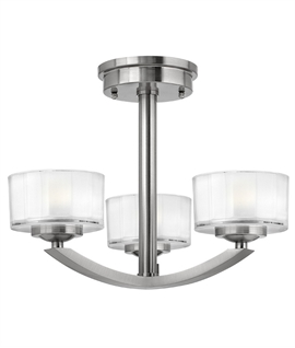 Semi Flush Art Deco Light with Minimalist Design
