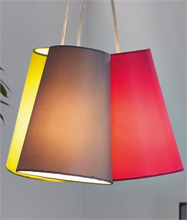 Triple Grouped Fabric Shade Pendant