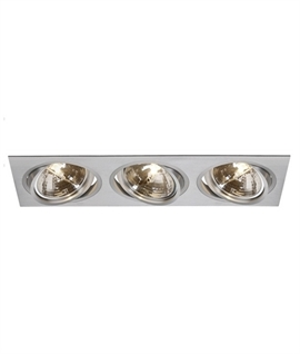 3 Light Adjustable Rectangular Recessed Fitting