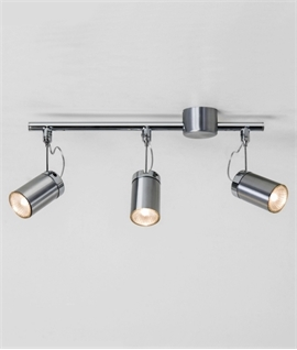 Brushed Aluminium Triple Spotlight Bar