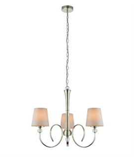 Polished Nickel Multi-Arm Pendant with Shades