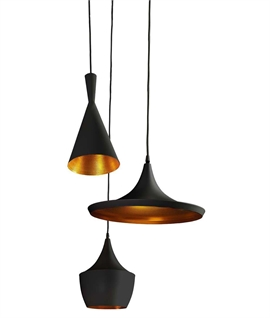 Triple Mixed Pendant Cluster - LED Lamps