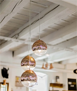 Hanging Ball Pendant - Chrome or Copper