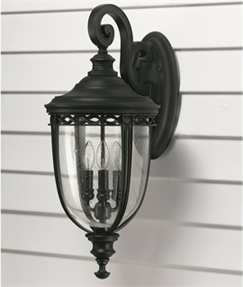 Traditional Black Wall Lantern - 4 Sizes