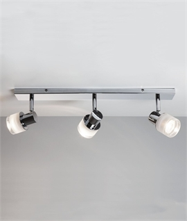Bathroom Chrome 3 Light Spot Bar for Wall or Ceiling