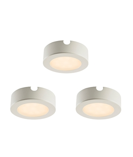 Surface or Recessed LED Undercabinet Lights - Pack of 3