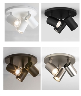 Modern Round 3 Light Ceiling Spot Plate - Four Finishes