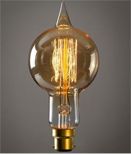B22d 40w Large Globe Spike Filament Bulb