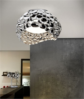 Multi-Reflective Chrome Flush Light