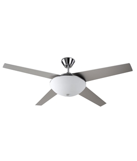 Ceiling Fan With Large White Glass Diffuser