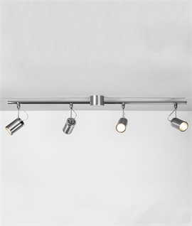 Brushed Aluminium 4 Spotlight Bar