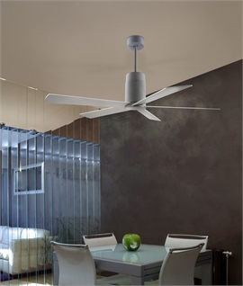 5 Blade 1320mm Grey White Ceiling Fan - Surface Mounted or Rod Suspended