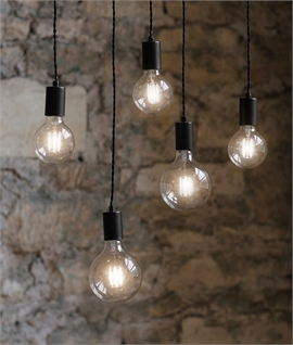 Bare Flex & Hook Pendants - 3 or 5 Light