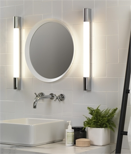 Over Mirror Light - Half Round - LED or Fluorescent