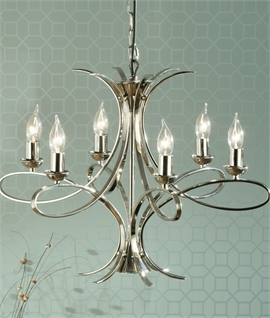 Smart Contemporary 6 Light Chandelier