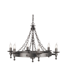 Medieval wrought iron 12 lamp chandelier graphite black wrought iron chandelier aloadofball Gallery
