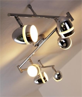 Adjustable Chrome 6 Bar Light with LEDs