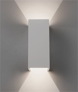 Sleek Up & Down Plaster Wall Light