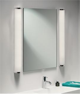 Bathroom mirror lights lighting styles bathroom ip44 wall light 600mm or 900mm aloadofball Choice Image