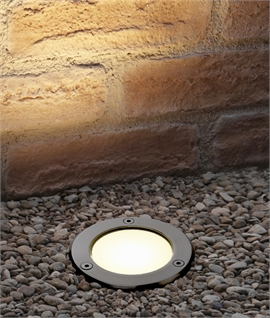 Mains Stainless Steel LED Exterior Ground Light