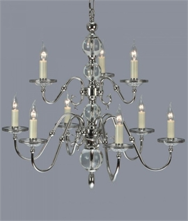Flemish Chandelier with Glass Ball Detail