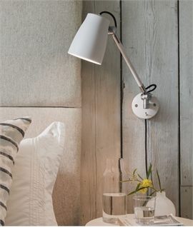 Adjustable Anglepoise Wall Light with Rocker Switch