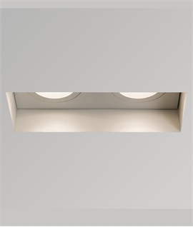 Adjustable Double Oblong Trimless Downlight - Fire Rated