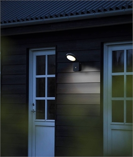 Exterior LED PIR Wall Light with Slope Design