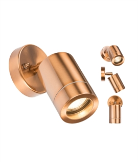 Copper Adjustable Spotlight - Mains GU10 Lamps