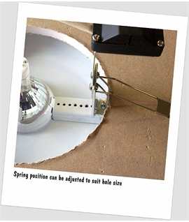 Mains Eyeball Downlight Converter - Chrome or Brass