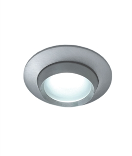Brushed Aluminum Mains Downlight IP65 Rated
