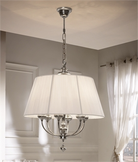 oval pendant light aged silver finish - Dining Room Light Fittings
